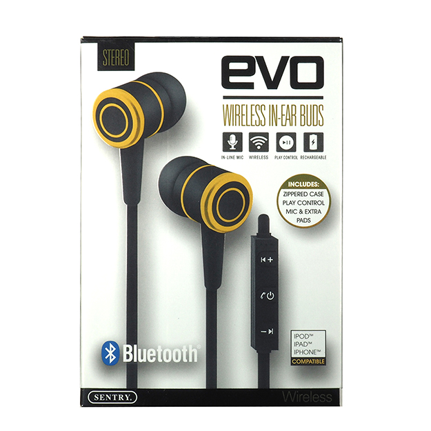 24b72f4d760 Sentry EVO Bluetooth, Rechargeable, Wireless In-Ear Buds with In ...