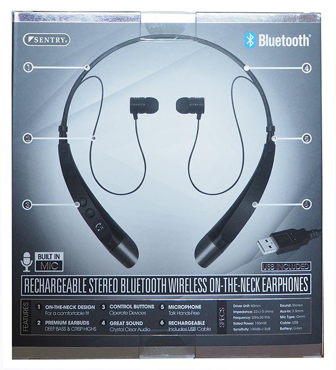 23d6c944898 Sentry Bluetooth on the neck Earphones; Supreme Comfort – Black ...