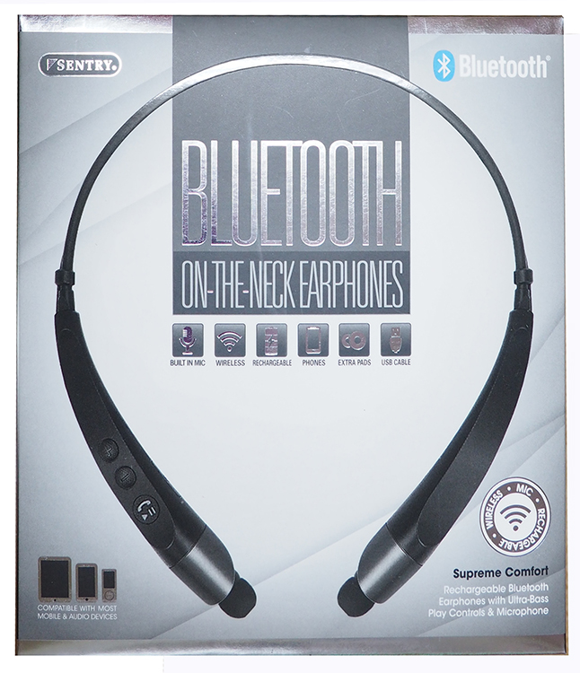 2e4dc41a8fe Sentry Bluetooth on the neck Earphones; Supreme Comfort – Black ...